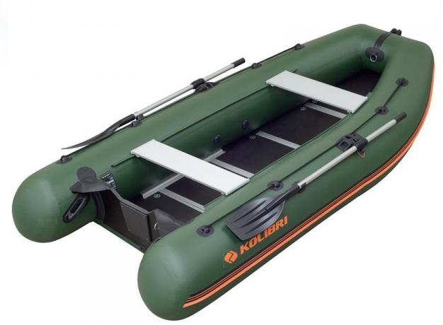 Надувная лодка Kolibri km-400dsl шестиместная моторная