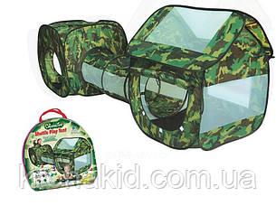 """Детская палатка военная Камуфляж с тоннелем (230х70х85см) А999-146  """"3 в 1 плюс"""", фото 2"""