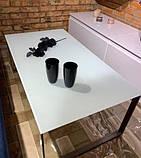 Стол журнальный BRIGHTON R стекло белый (120х65х45 см) Nicolas (бесплатная доставка), фото 4