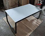 Стол журнальный BRIGHTON R стекло белый (120х65х45 см) Nicolas (бесплатная доставка), фото 3