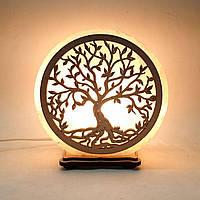 Соляная лампа круглая Дерево 4