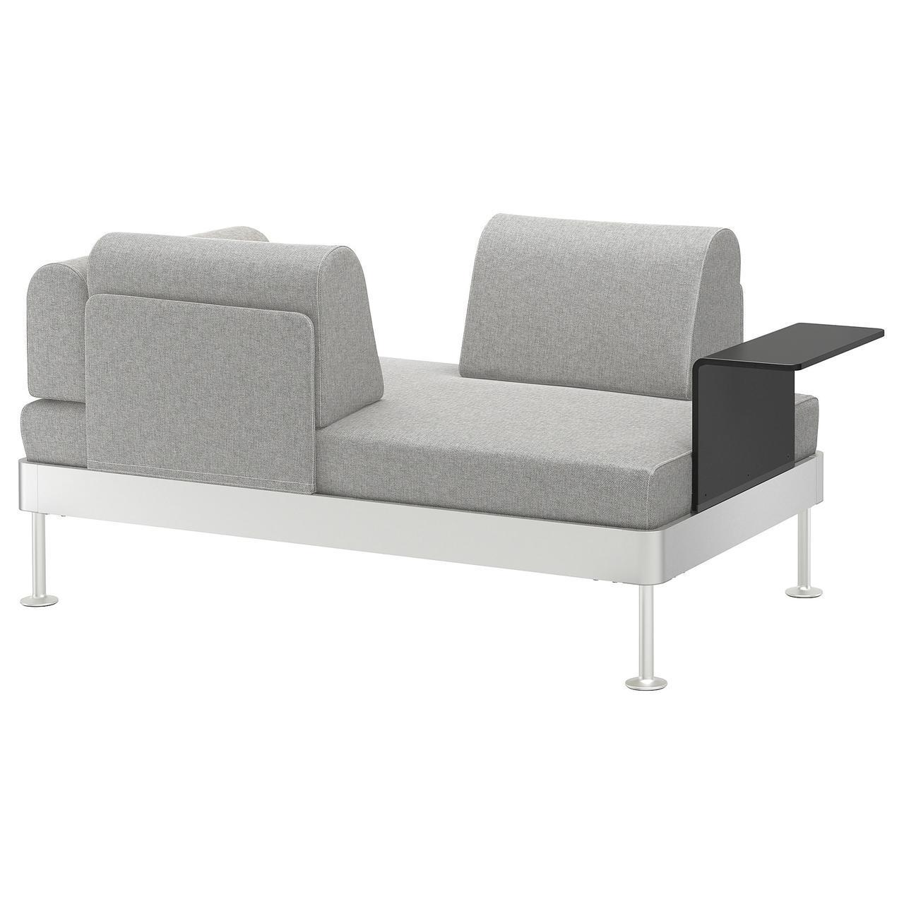 IKEA DELAKTIG (692.596.81) 2-местный диван со столом, Tallmyra белый/черный