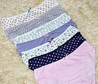 Комплект женских трусиков 7 штук, хлопок, Турция размер S, синие, розовые, сиреневые, белые, бежевые