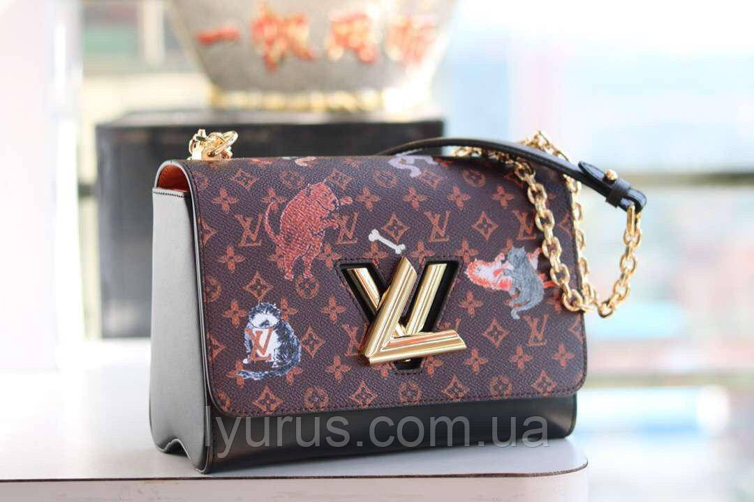 Женская сумка клатч  Louis Vuitton Twist MM Monogram