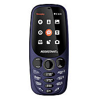 """Мобильный телефон Assistant AS-201 Blue (2SIM) 2,4"""" 64 МБ+SD 0,08 Мп Гарантия! (ПРЕДОПЛАТА 100%)"""