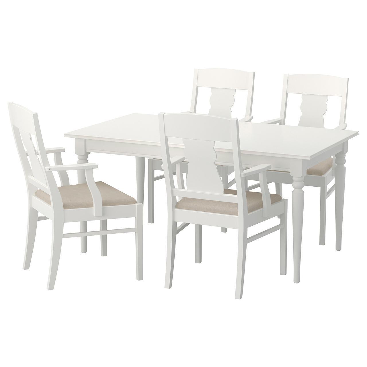 IKEA INGATORP / INGATORP (192.407.50) Стол и 4 стула