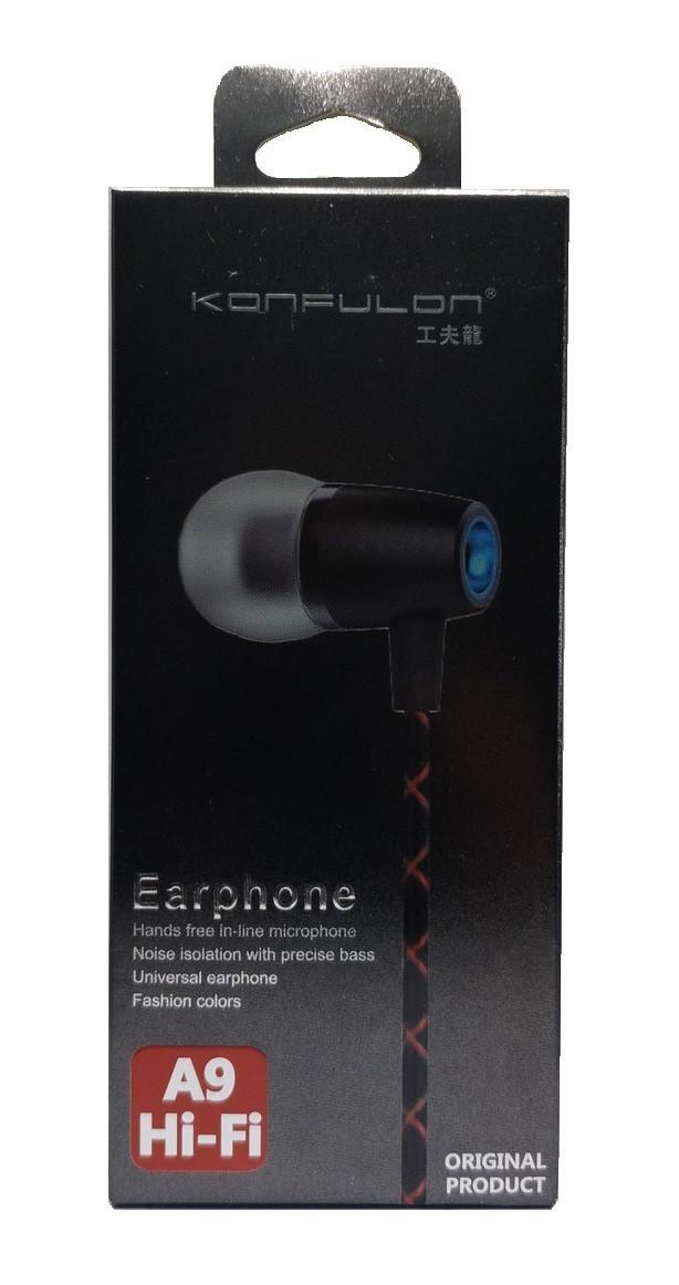 Навушники з мікрофоном Konfulon- iN-A09 чорний
