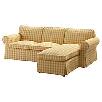 IKEA EKTORP (391.835.03) 3-местный диван, Nordvalla с шезлонгом, Nordvalla темный без