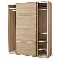 IKEA PAX (191.193.63) Шкаф/гардероб, дуб, окрашенный белый, Ilseng