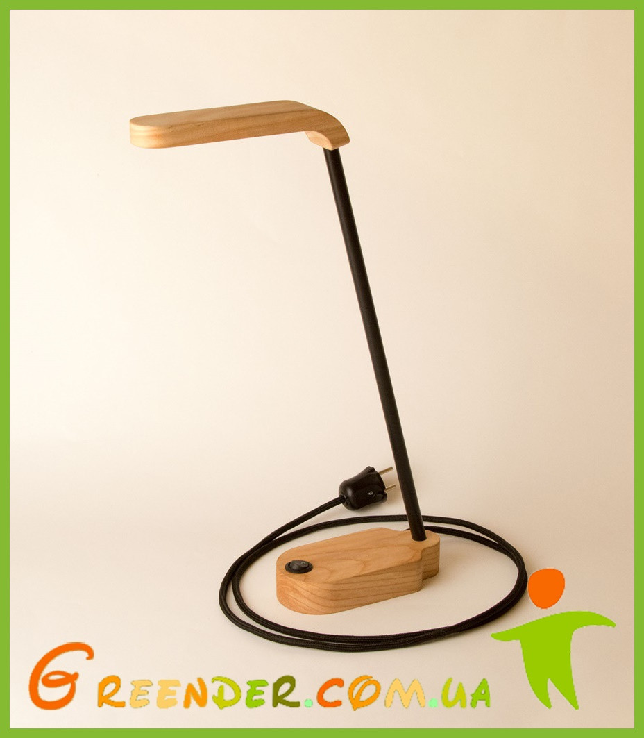 Лампа настольная ТВІСТЕР ручной работы ЯСЕНЬ