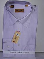 Рубашка мужская De Luxe vd-0050 розовая в полоску классическая с длинным рукавом