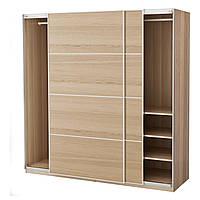 IKEA PAX (591.283.51) Шкаф/гардероб, дуб, окрашенный белый, Ilseng