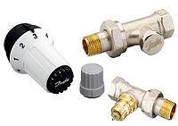 Комплект: прямой клапан RA-FN + термоголовка RAS-C + клапан запорный RLV-S
