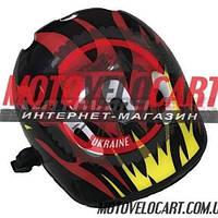 Шлем велосипедный детский (цвет:черно-красный)