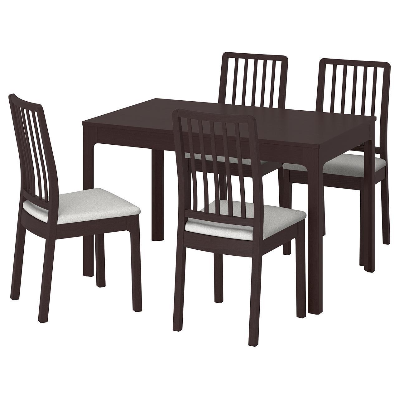 IKEA EKEDALEN / EKEDALEN (692.212.78) Стол и 4 стула, темно-синий, Orrsta светло-серый