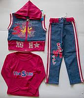 Комплект-тройка для девочки 2 - 6 лет