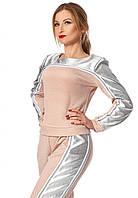 Женский спортивный костюм пудрового цвета. Модель 679. Размеры 42-48