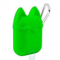 Футляр для наушников Airpod Dog зеленый