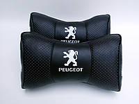 Подушка на подголовник  с логотипом автомобиля  Peugeot  черная