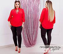 Женская модная блузка  ДЕ874 (бат)