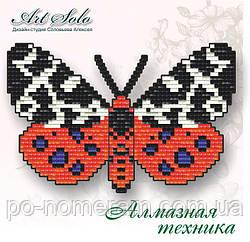 Бабочка магнит в алмазной технике Медведица Кайя (БАТ04)