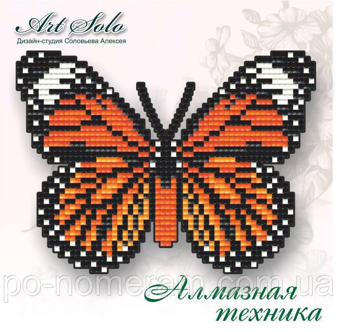 Алмазная мозаика Art Solo Полосатый тигр (БАТ06) 14,5 х 11 см (Без подрамника)
