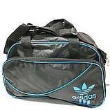 Дорожні спортивні сумки Adidas з плащової тканини (синій+білий)28*43см, фото 3