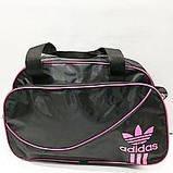 Дорожні спортивні сумки Adidas з плащової тканини (чорний+блакитний)28*43см, фото 3