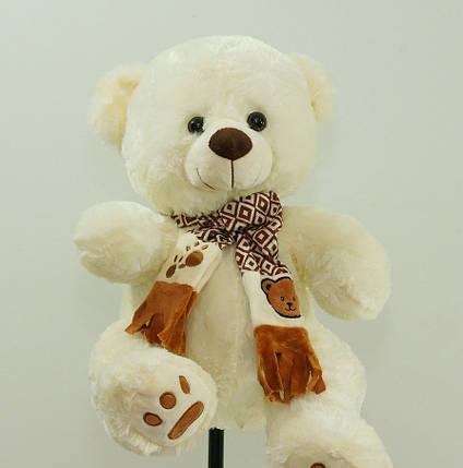 Милый плюшевый Медведь в шарфе мягкая игрушка Мишка 58 см детские игрушки, фото 2