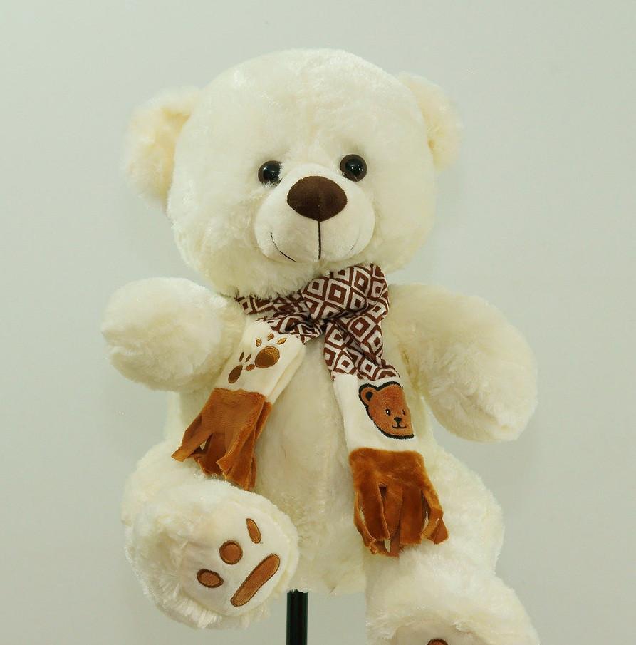 Милый плюшевый Медведь в шарфе мягкая игрушка Мишка 58 см детские игрушки