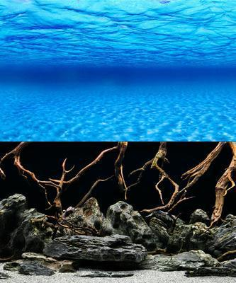 Фон для аквариума двусторонний морское дно/коряги, высота 30 см, Hagen 11751