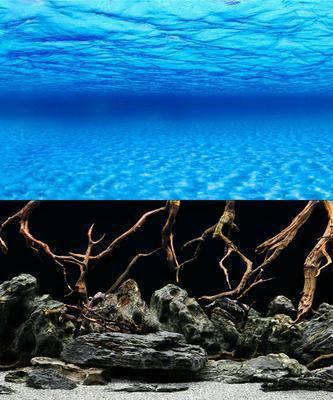 Фон для аквариума двусторонний морское дно/коряги, высота 30 см, Hagen 11751, фото 2