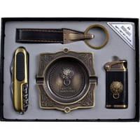 Подарочный набор Moongrass Зажигалка, нож, брелок, пепельница YJ6362