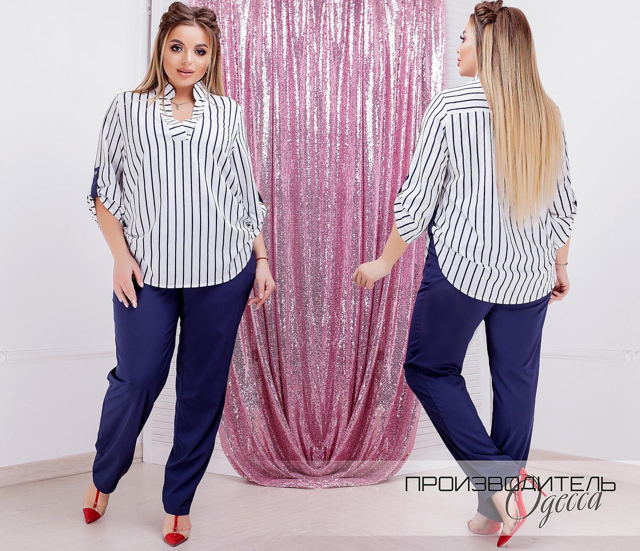 Женская модная блузка  ДЕ859Б (бат)