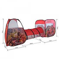 Палатка M 3791  AV,с тоннел, домик,куб,2вх,окно-сет, в сум,48-48-4см