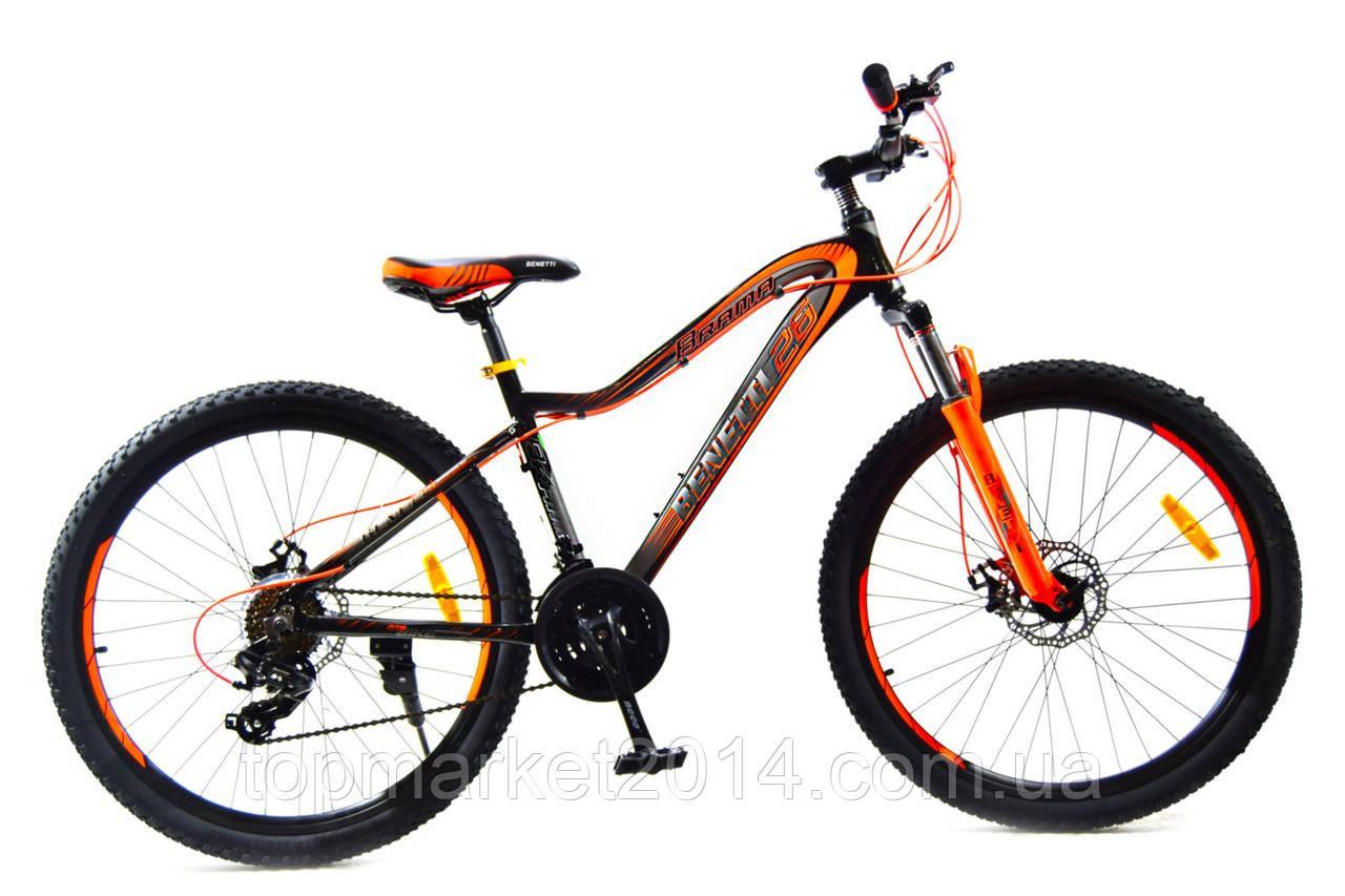 Горный велосипед Benetti Brama Neco DD 26'' черно-оранжевый  (ХАРДТЕЙЛ)