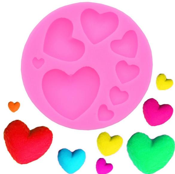 Пищевая силиконовая форма сердце набор