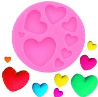 Пищевая силиконовая форма сердце набор, фото 1