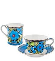 """Чайный набор """"Цветочный джаз"""" Pavone из костяного фарфора JK-148"""