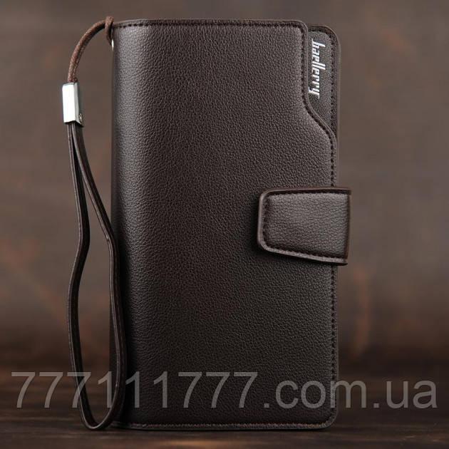 b1596c9e3436 Мужской кожаный клатч, кошелек Baellerry Business Темно-коричневый ...