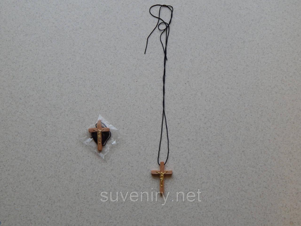 Деревянный крестик нательный