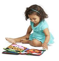 Развивающая, сенсорная, текстильная мягкая книжка Fanny zoo, фото 1