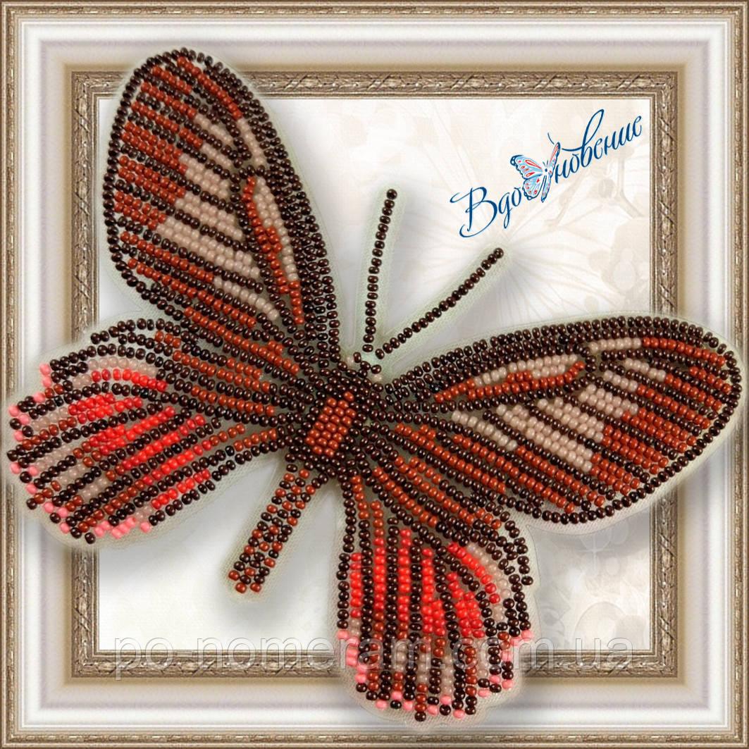 Бабочка из бисера вышивка на пластиковой основе Eurytides Ariarathes Gayi (BGP017)