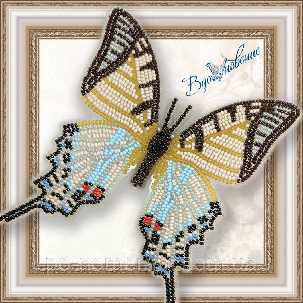 Бабочка из бисера вышивка на пластиковой основе Парусник Протесилай (BGP024)