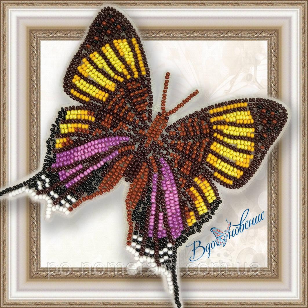 Бабочка из бисера вышивка на пластиковой основе Марпезия Марселла (BGP027)