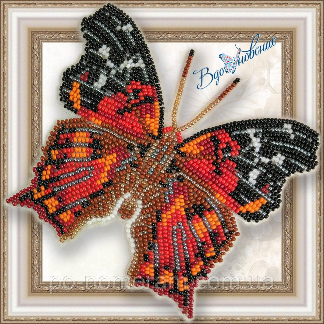 Бабочка из бисера вышивка на пластиковой основе Hypanartia Kefersteini (BGP047)
