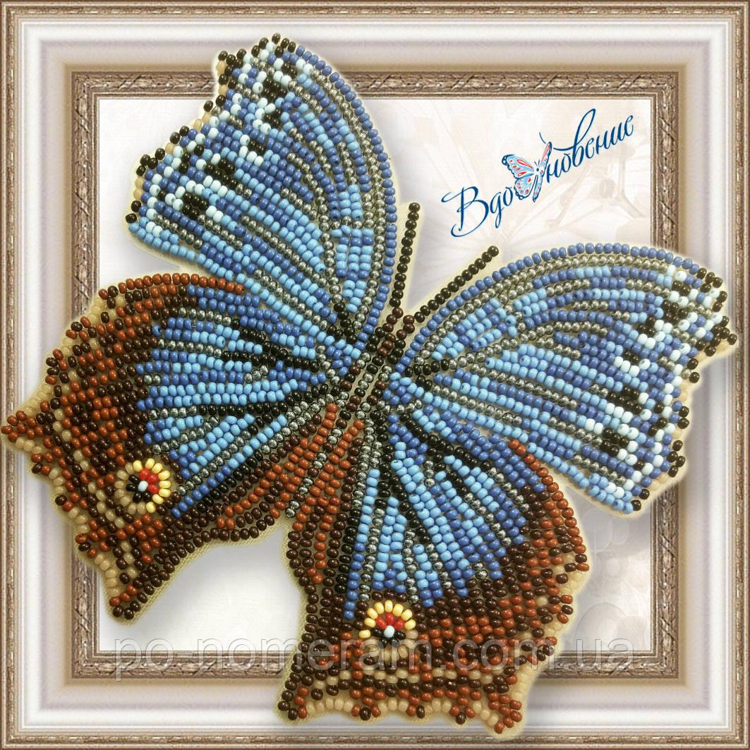 Бабочка из бисера вышивка на пластиковой основе Salamis temora (BGP048)