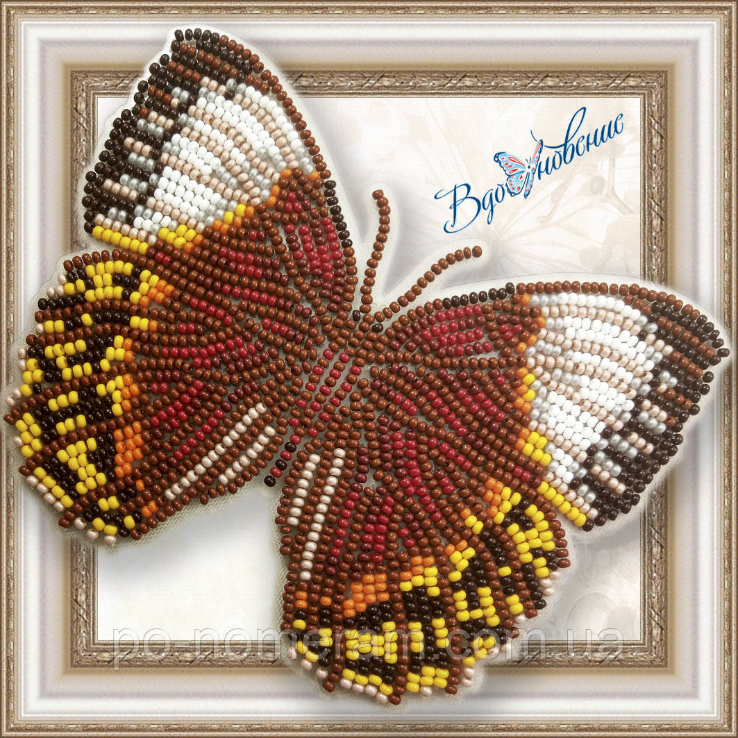 Бабочка из бисера вышивка на пластиковой основе Стихофтальма Луиза (BGP052)