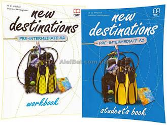 Английский язык / New Destinations / Student's+Workbook. Учебник+Тетрадь (комплект), Pre-Intermediate A2 / MM