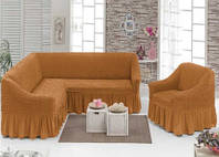 Обтягуючий чохол на кутовий диван та крісло